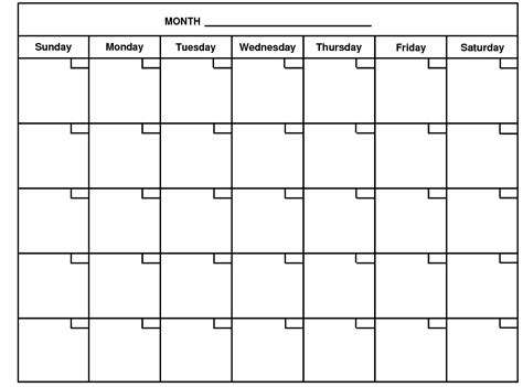 printable empty monthly calendar month calendar monthly calendar projects to try