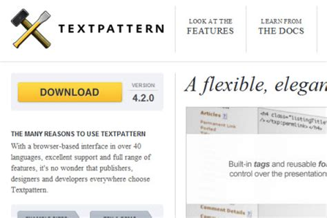 text pattern website the best open source cms mainly used for blogging web