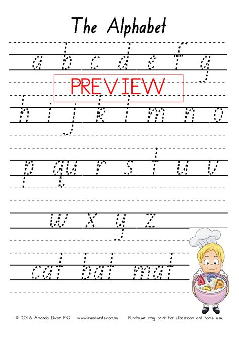 Foundation Writing Worksheets nsw foundation font handwriting sheets