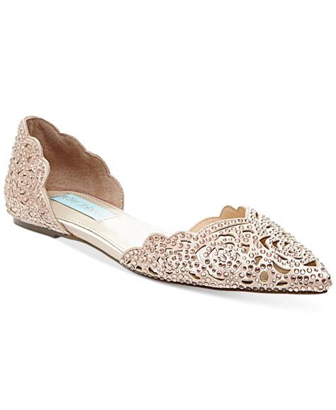 Flat Embellished Wedding Shoes by Betsey Johnson Embellished Flats In Multicolor Lyst