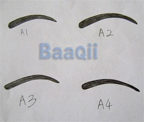 4 best images of printable eyebrow stencils kit
