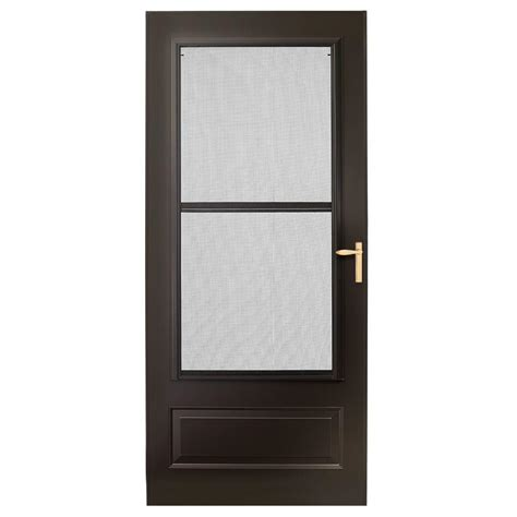 Emco Door by Emco 36 In X 80 In 300 Series Bronze Universal