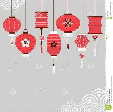 new year lantern vector new year background with lanterns stock vector