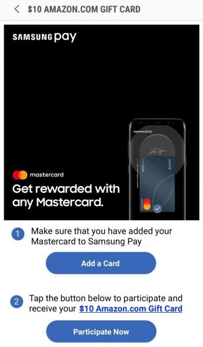 Amazon Pay With Multiple Gift Cards - use a mastercard with samsung pay 3 times and get a 10 amazon gift card dansdeals com