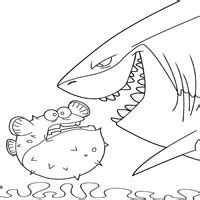 bloat finding nemo coloring page bloat and bruce 187 coloring pages 187 surfnetkids