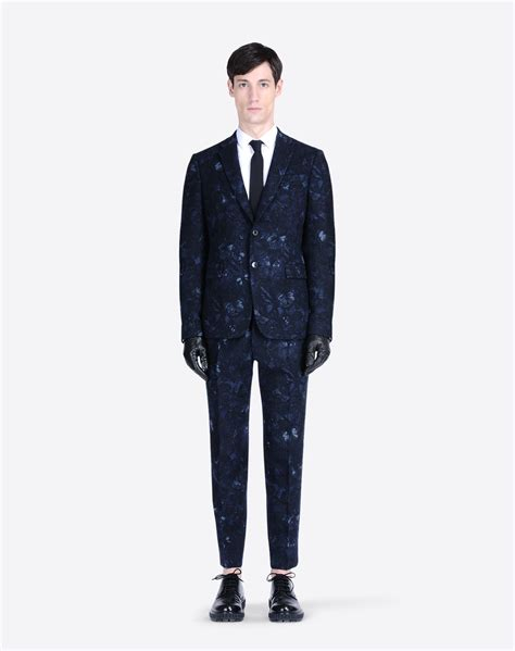 Valentino Suit valentino uomo suit in navy camubutterfly tweed suits for
