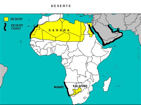 map of africa deserts desert in africa map www pixshark images