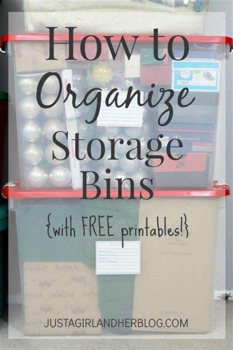 Garage Storage Labels How To Organize Storage Bins With Free Printables