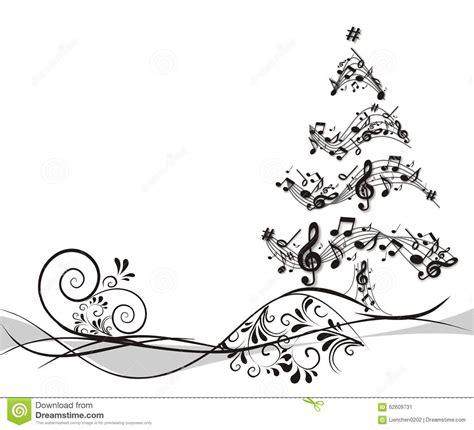 193 rbol de navidad con las notas stock de ilustraci 243 n