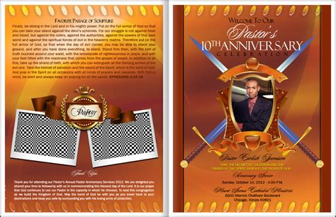 free pastor anniversary program templates best photos of unique pastor anniversary programs pastor