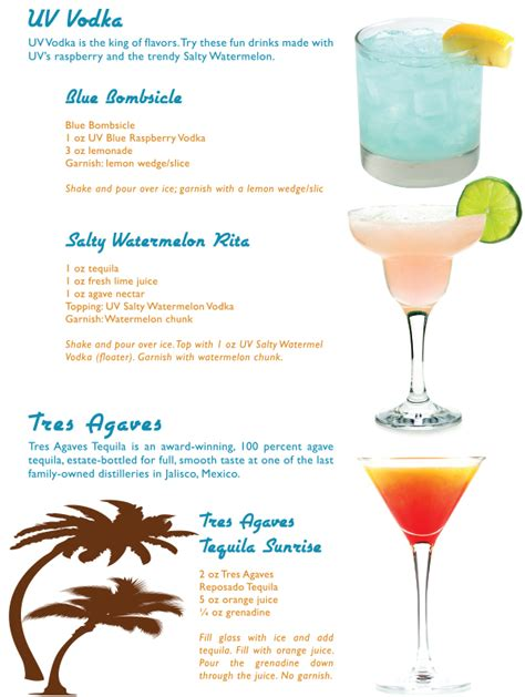cocktail recipes uv vodka cocktail recipes in the mix magazine