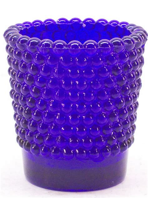 cobalt blue tea light candle holders vintage cobalt blue glass bubble votive tealight candle