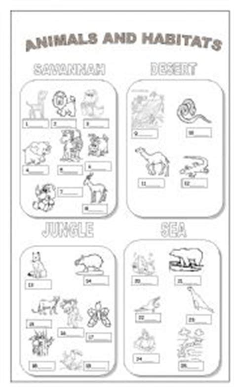 free printable animal homes worksheets english worksheets animals and habitats