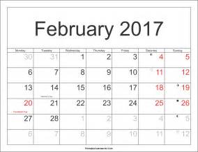 Netherlands Kalendar 2018 February 2017 Calendar With Holidays Monthly Calendar