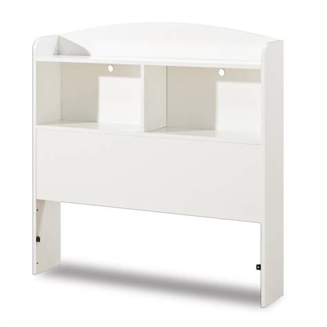 south shore logik bookcase headboard in white 3360098