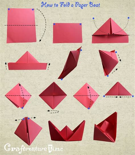 How To Fold A Paper In Three - how to fold a paper boat craft