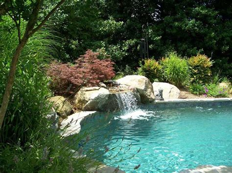 pools with waterfalls custom natural swimming pools in annapolis md waterfalls