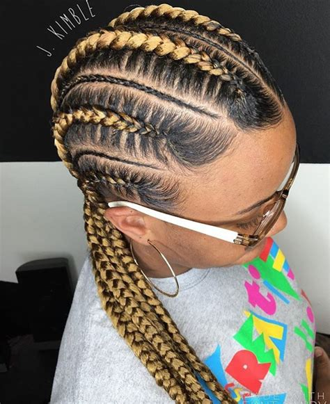 hair cut feeder clean feed in braids by j kimble black hair