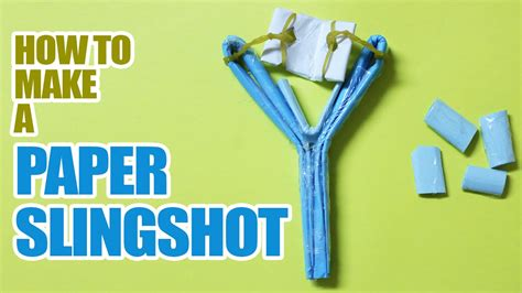 How To Make Paper Slingshot - how to make a paper slingshot that shoots
