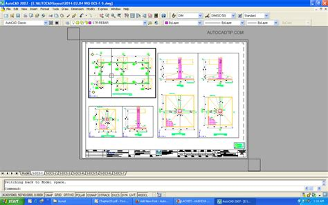 layout autocad viewport model space and paper space in layout autocad