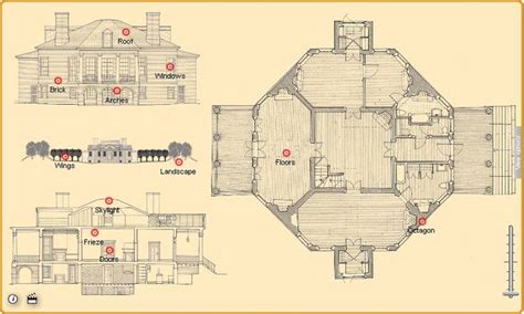 Poplar Forest Floor Plan | thomas jefferson s poplar forest floor plan his home of