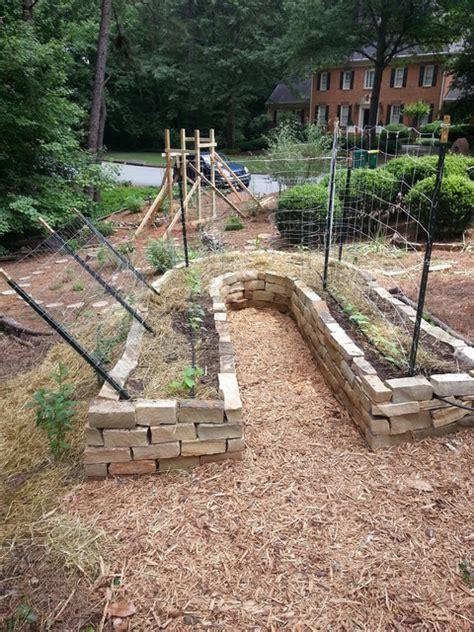 Raised Rock Garden Rock Raised Veggie Garden Bed