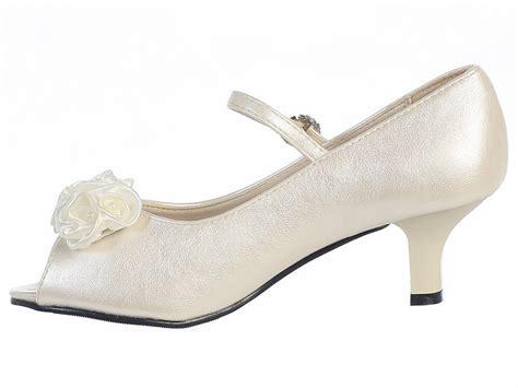 ivory dress shoes ivory peep toe dress shoe w satin flowers