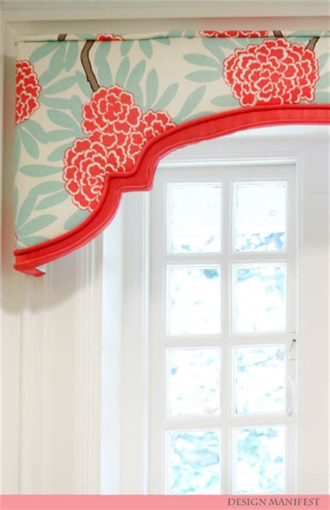 Shaped Cornice Shaped Valance Contemporary Bathroom Design Manifest