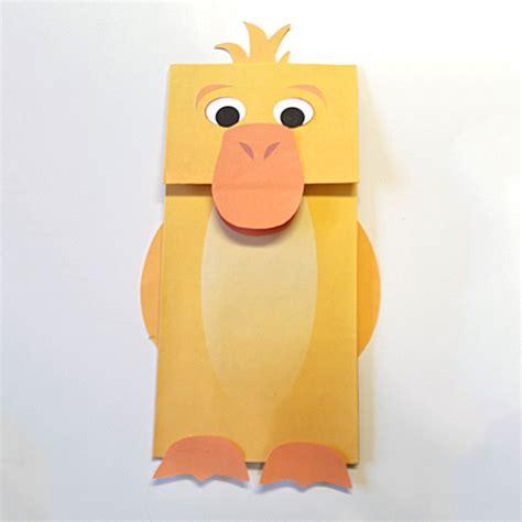 Paper Bag Puppet - duck paper bag puppet color downloadable pdf