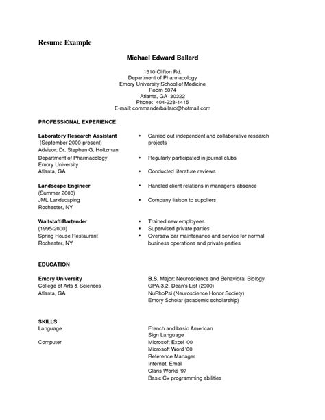 Free Pdf Resume Template by Resume Exle Pdf Resume Ideas