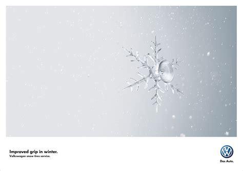 volkswagen winter car ads 40 clever automobile advertisements designrfix com