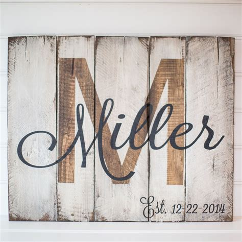 Skyrim Sign Wood Pallet last name with est date rustic wooden sign made from reclaimed pallet wood by