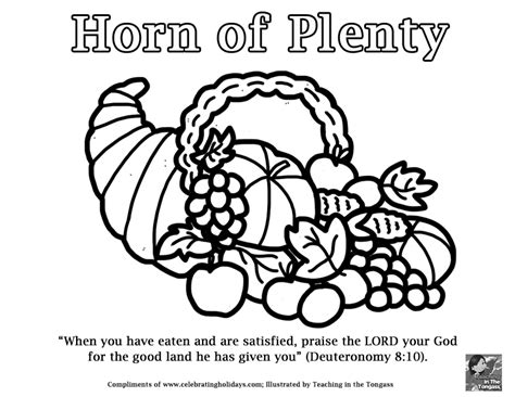 Search Pof By Email Address Horn Of Plenty Coloring Page For Thanksgiving Celebrating Holidays