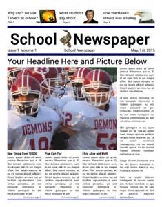 School Newspaper Template by Free Newspaper Templates Print And Digital