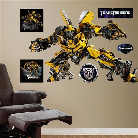 transformers wall stickers bumblebee transformers 3 fathead