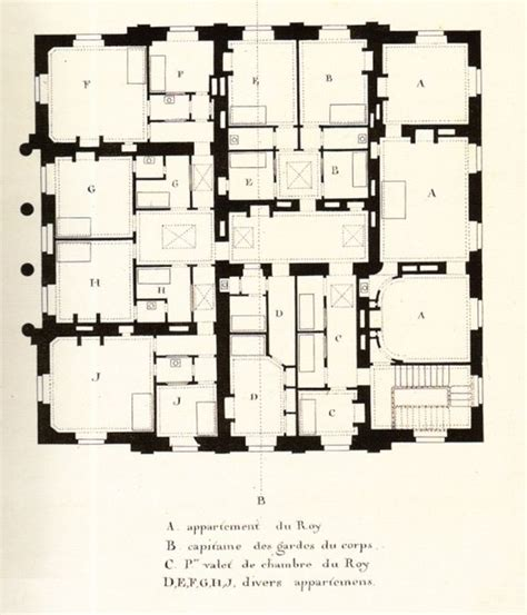 floor plan versailles plans du petit trianon l attique attic second floor