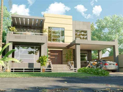 pakistani new home designs exterior views 3d front elevation beautiful modern 1 kanal home 3d front