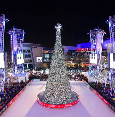 christmas tree at the los angeles staples center trees l a live