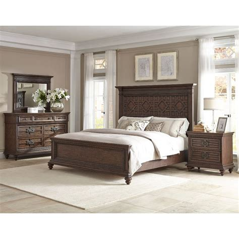 palencia rustic brown 6 king bedroom set