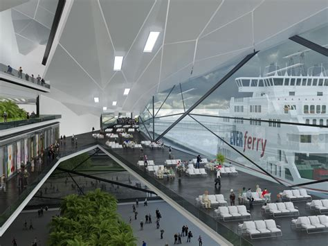 design concept for ferry terminal urban office architecture master planning kinmen ferry