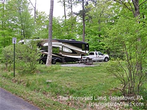 Promised Land State Park Cabins by Snowbird Rv Trails