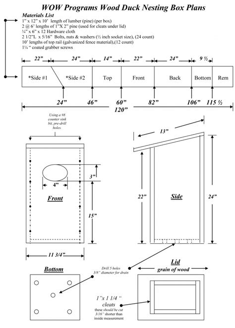 pattern for wood duck box joins chapter wood duck box plans free