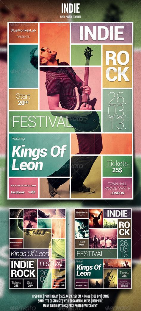 design large poster indie flyer poster 6 graphicriver