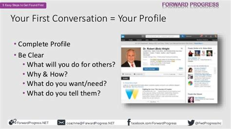 linkedin profile tips 5 easy steps to get found first