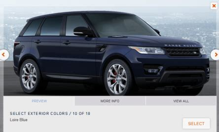 build and price range rover build your own range rover new feature on the landrover