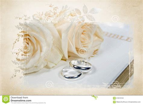 Bible Wedding And by Wedding Rings On Bible Stock Photo Image Of Religious