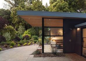 Flat Roof Overhang Windows Roof Overhangs And Headers Mid Century Modern