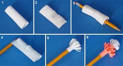 How To Make Paper Pencil - chop cuff pencil toppers