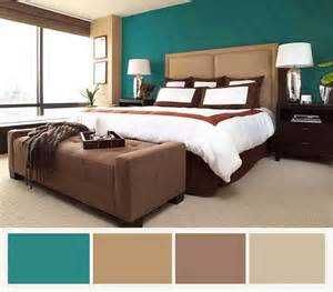 Bedroom Color Schemes Brown And Green Turquoise Bedspread On