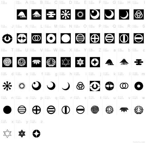 font text pattern orient pattern dings set 5 font